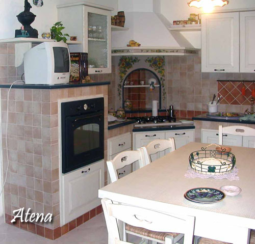 Cucina atena decorazione pietra lavica etna ceramizzata for Piani di artigiano contemporanei