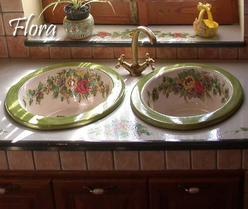 Cucina flora decorazione pietra lavica etna ceramizzata: le cucine ...