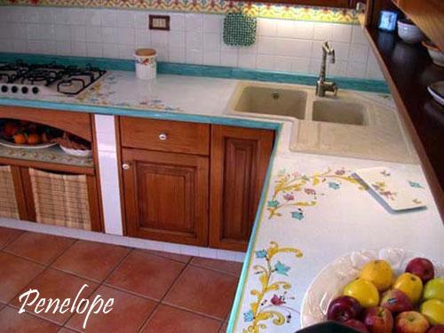 Cucina penelope in muratura le cucine dei sogni costruzione cucine in muratura realizate e - Lavabo cucina angolare ...